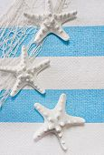 Holiday mood - Starfish maritime as background decoration