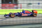SINGAPORE - SEPTEMBER 20. Daniil Kyvat of Russia in Toro Rosso Renault took up 10th place in the Grand Prix Formula1 Singapore 20th SEPT 2014