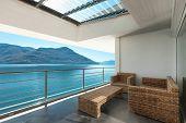beautiful veranda of a penthouse, outside