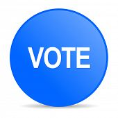 vote internet blue icon