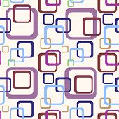 detailed illustration of an abstract colorful 70s background pattern, eps10 vector