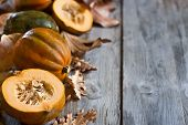 Decorative Pumpkins Background