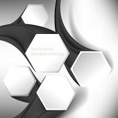 eps10 vector hexagon elements three-dimensional concept business background