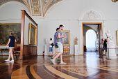 SAINT-PETERSBURG, RUSSIA -AUGUST 10: Interior of  Hermitage, the museum of art and culture in Saint Petersburg.