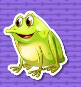 Illustration of a frog with background