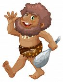 Illustration of a caveman with stick