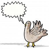 cartoon flapping bird