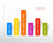 Vector Infographic flat design column graph chart colorful template