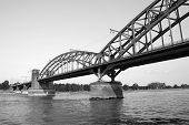 The Suedbruecke Over The Rhine In Cologne, Germany