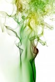 Colored of smoke in the white background