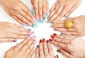 pic of nail-art  - Female hands with various nail arts  - JPG
