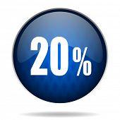 20 % internet blue icon
