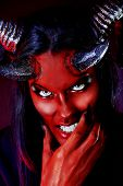 image of hades  - Portrait of a devil with horns - JPG