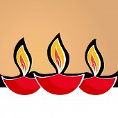picture of diwali  - Vector diwali diya background - JPG