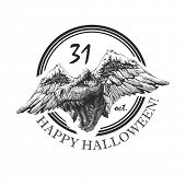 design element for halloween. hand drawn. vector eps8