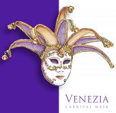 Venetian Mask - vector drawing. Eps10