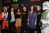 LOS ANGELES - SEP 27:  Star Wars Rebels Cast at the