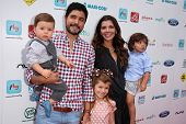 LOS ANGELES - SEP 28:  Alejandro Gomez Monteverde, Ali Landry, family at the 3rd Annual Red CARpet S