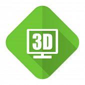 3d display flat icon