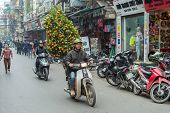Chinese New Years decorations in Vietnam