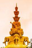 Golden Buddha on Mounth Emei