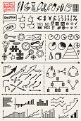Set of Hand Drawn Business Elements
