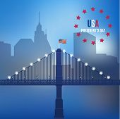 usa design over lineal background vector