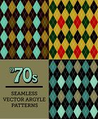 70s Style Seamless Argyle Pattern
