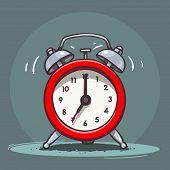 Ringing vintage alarm clock