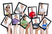 Diversity Hands Digital Devices Communication Variation Concept