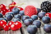 pic of berries  - Fresh Berries and raspberry  - JPG