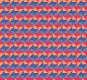 Geometric arrows in different colors pointing left and right, a seamless pattern