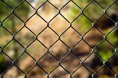 Diagonal Diamond Pattern Chain Link Fence Outside Boundary