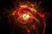Abstract Fractal Texture. Threads Resembling Fiery Explosion.