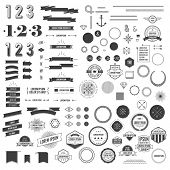 Set of circle diagrams for infographic