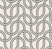 Vector abstract seamless background. Line pattern. Interweaving marine rope