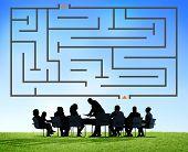 Maze Game Puzzle Concept