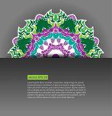 Elegant background with floral elements, ornate background. Vector illustration. EPS 10.