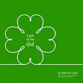 St. Patrick's card with silhouette clover