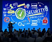 Diversity Business People Security Protection Seminar Concept