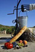 Simple Mediterranean picnic