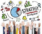 Strategy Development Goal Marketing Vision Planning Hand Concept