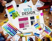 Web Design Network Website Ideas Media Information Concept