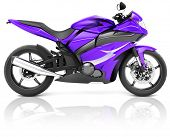Motorcycle Motorbike Bike Riding Rider Contemporary Purple Concept