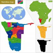Administrative division of the Federal Republic of Namibia