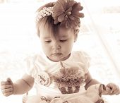 Baby's First Birthday In Sepia Tones