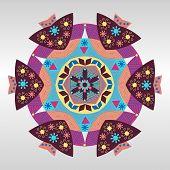 Round Ornament Pattern Vintage Decorative Elements
