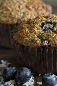 Blueberry Bran Muffins - Close Up