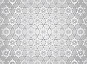 Silver Abstract Star And Arrow Shape Seamless Pattern