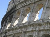 the colloseum in Rome